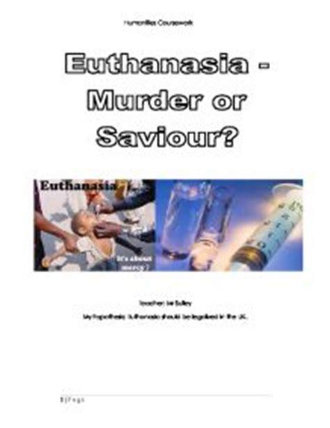 Essay euthanasia pro